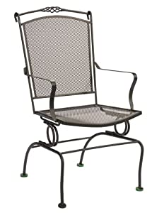 Amazon Com Ava Wrought Iron Spring Action Chair Patio