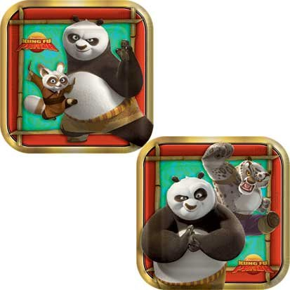 Kung Fu Panda Dessert Plates 8ct - 1