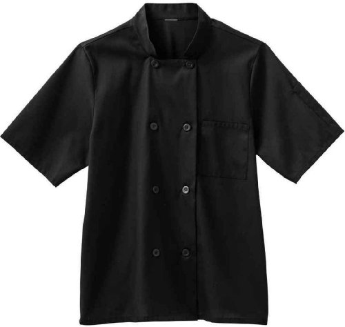 Five Star 18011 Men's Moisture Wicking Mesh Back Chef Coat Black Small (Five Star Chef Apparel compare prices)