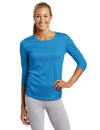 Asics Women's Core Long Sleeve Shirt, Peacock, X-Large