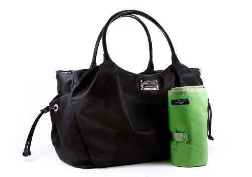 Kate Spade New York Basic Nylon Stevie Baby Bag (Black) front-461072