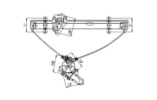 *** PAIR (DRIVER & PASSENGER) *** 01-05 HONDA CIVIC (4DR, US AND CANADA BUILT ONLY) POWER FRONT WINDOW REGULATOR (W/ CABLE TYPE) 02 03 04 2001 2002 2003 2004 2005