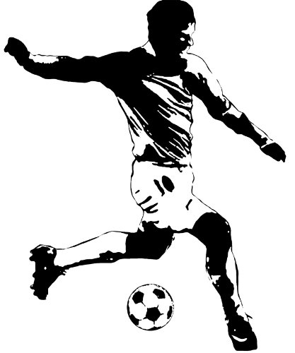RoomMates RMK1326GM Soccer Player Peel & Stick Giant Wall Decal