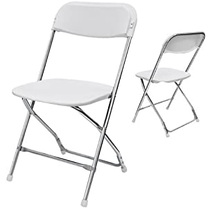 Yens® FantasyChairs Plastic Folding Chair Color: White Chrome (6pcs Set) X-02C-ChWT from Yens®