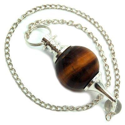 golden-tiger-eye-sphere-pendulum-w-clear-quartz-bead-1pc-by-healing-crystals