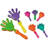 """~ 12 ~ Hand Clappers Noisemakers Favors ~ 7.5"""" ~ NEW"""