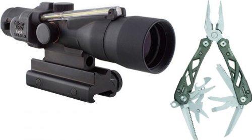 Trijicon Acog 3X30 Dual Illum. Amber Crosshair 300Blk Ball. Reticle W/Ta60 Ta33-C-400063 W/ Gerber
