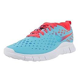 Nike Kids Free Express (GS) Running Shoe-Polarized Blue/Laser Crimson-5.5