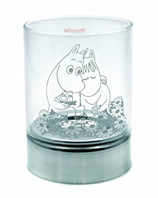 Muurla Moomin 75 Cm Together Forever Glass Candleholder by Muurla