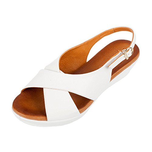 Riva Ambra Buckle Ladies Summer Sandal White - 41