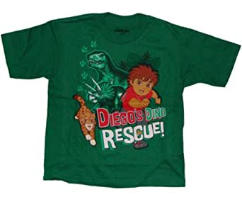 Nickelodeon Go Diego Go! Dino Rescue Little Boys T-shirt (2T, Green)
