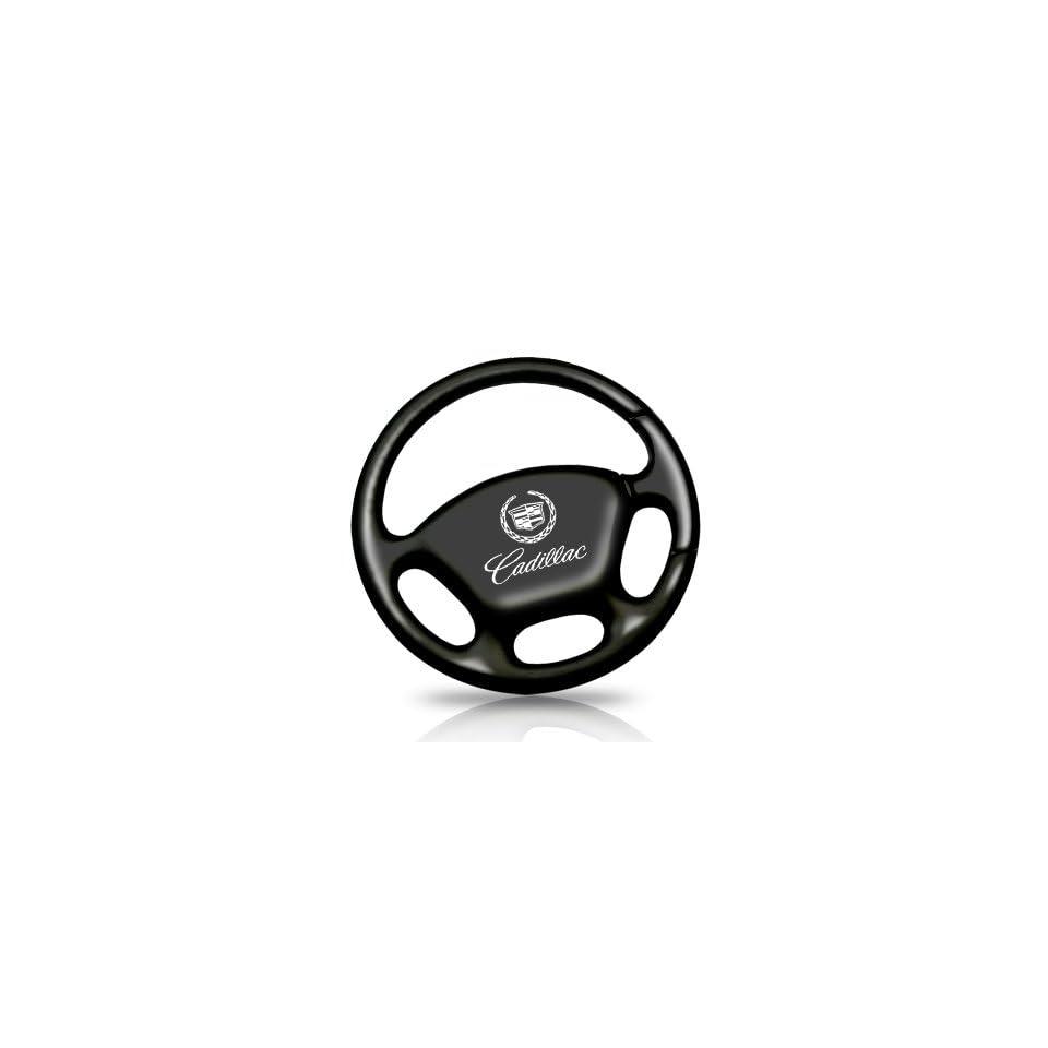 Cadillac Black Steering Wheel Key Chain