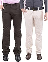 AARP'S Slim Fit Mens Casual Trousers Pack Of 2