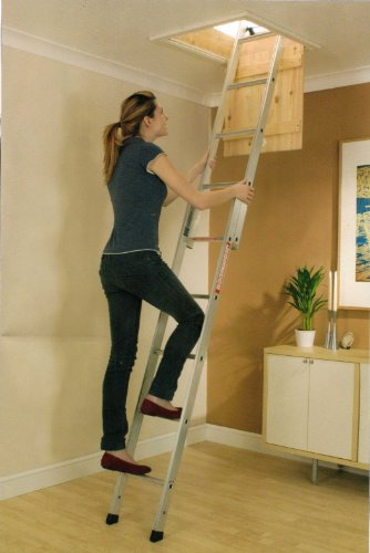 Aluminium 2 Section Sliding 'Spacemaker' Loft Ladder