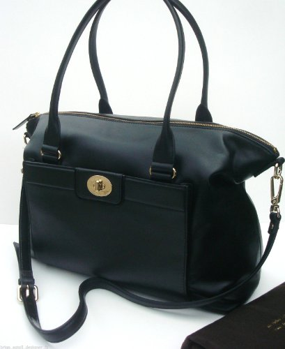 Kate Spade NY Theresa Hampton Road Black Leather Satchel Shoulder Handbag NWT