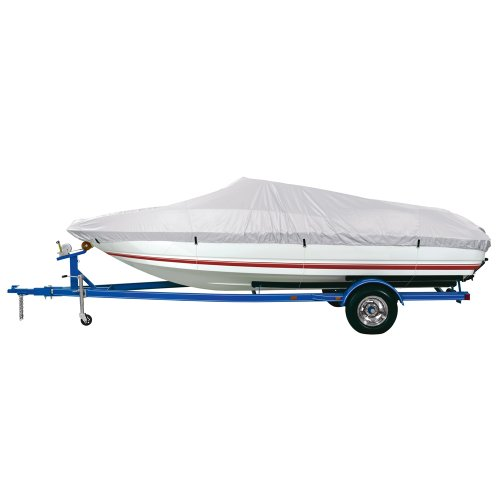 """Dallas Manufacturing Co. Reflective Polyester Boat Cover C - 16'-18.5' Fish, Ski & Pro-Style Bass Boats - Beam to 94"""""""