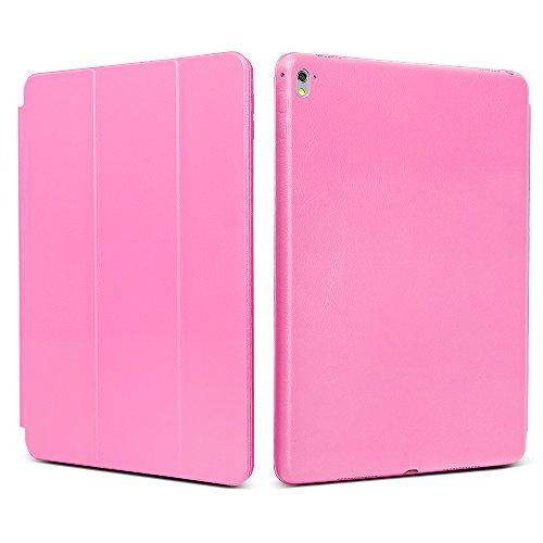 """iPad Pro 9.7 """"Case, JGOO [Full Body Protection] Ultra Slim Folio Abdeckung mit Standplatz und Magnetic Smart Cover Auto-Spur-Schlaf On / Off-Funktion, Klassische Eleganz Stil für iPad Pro 9.7 Zoll (2016 Release), Rosa"""