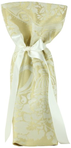 CHC-Beverly Hills CHIC, High End Wine/ Champagne Fabric Gift Bag Beige and Beige Ribbon, One Size (How To Make The Ch compare prices)