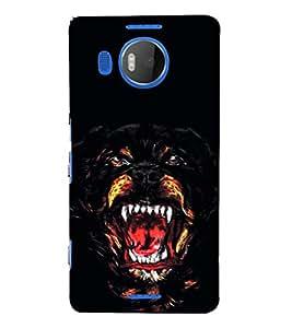 EPICCASE Ferocious Dog Mobile Back Case Cover For Microsoft Lumia 950 XL (Designer Case)