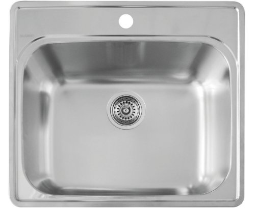 Laundry Room Sinks Stainless Steel : Blanco 441078 Essential Laundry Sink, Stainless Steel Hardware ...