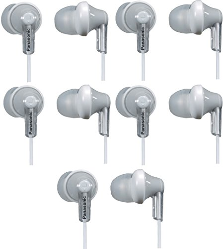 Panasonic ErgoFitIn-Ear Earbud Headphones RP-HJE120 (5-Pack, Silver) (Panasonic Headphones Hje120 compare prices)