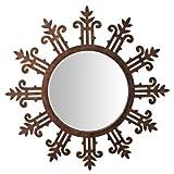 Butterfly Homes Wooden Mirror - (24 X 24 X 1, Gold Bronze)