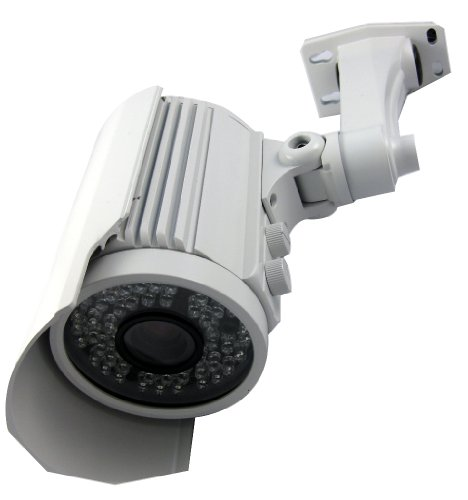 Vonnic C107W 1/3-Inch Sony Ccd 550 Tv Lines 60 Ir Led Night Vision 200 Feet 2.8-12Mm Varifocal Bullet Camera (White)