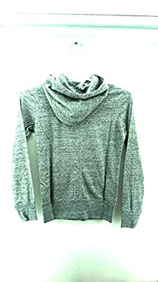Nike Women's Gym Vintage Full-Zip Hoodie Jacket, Carbon Heather/Sail, XL