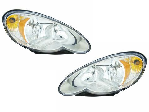 Chrysler PT Cruiser Headlights OE Style Replacement Headlamps Driver/Passenge... (Headlight Assembly Pt Cruiser compare prices)
