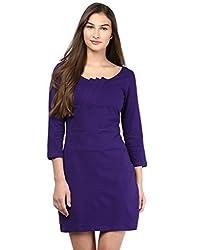 Besiva Women's Purple Knitted Dress