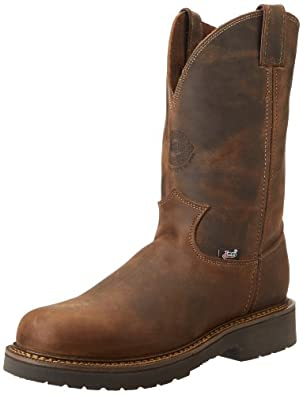 "Justin Original Work Boots U.S.A. Men's J-Max 11"" Pull-On Boot,Rugged Bay Gaucho,7 D US"