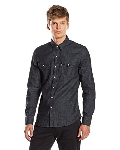 Levi's Camisa Hombre Barstow Western Azul Claro