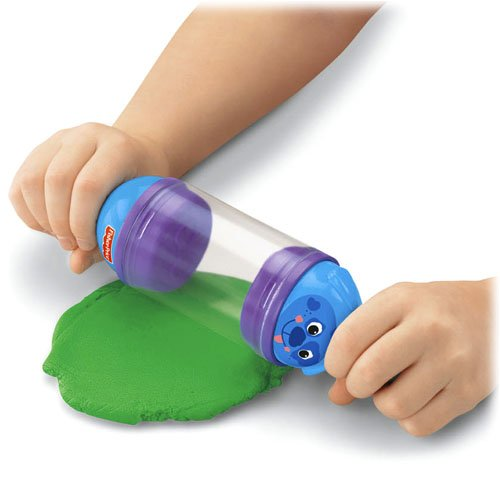 Fisher-Price Made by Me Stamp N Store Roller - Includes My Dough Which Never Dries Out - Green