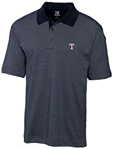 MLB Texas Rangers Mens Drytec Resolute Polo Knit Short Sleeve Top by Cutter & Buck
