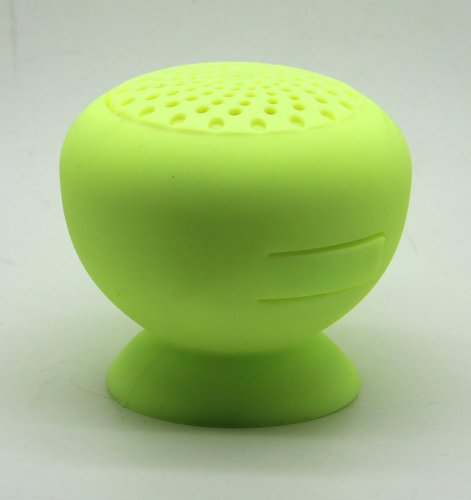 Baudio Mushroom Mini Digit Bluetooth Speaker Wireless Waterproof Silicon Suck Cup Mini Outdoor Sports Portable Wireless Speaker For Samsung, Iphone,Ipad, Nokia, Htc,Tablets Pc,Notebook, Bluetooth Car Kit Phone (Green)
