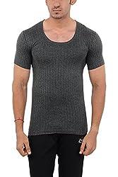 LLUMINATI Men's Cotton Thermal Top (Thermal D Grey Half S_XXL, Grey, XXL)