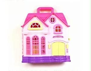 Try Me Happy Family Toy Plastic Dolls House Figures Furniture Accessories