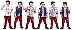 Bad Boys Red and Navy Combo Set - Pack of 4