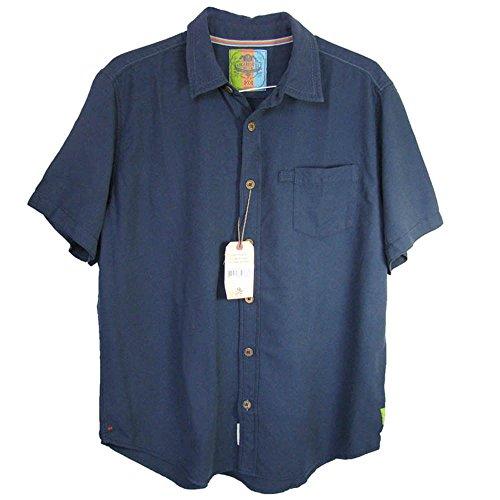 Margaritaville Mens 'Bbq - Surfin' Wave' Button-Down Shirt, Ink, L