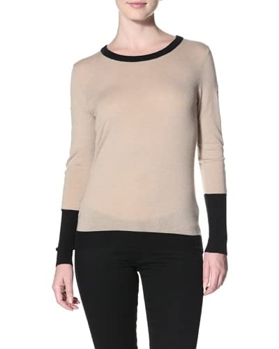 Shae Women's Sweater with Leather Trim