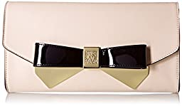 Anne Klein Lust Worthy Convertible Clutch, Sugar/Black, One Size