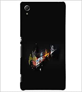 PrintDhaba Abstract Design D-2350 Back Case Cover for SONY XPERIA Z4 (Multi-Coloured)