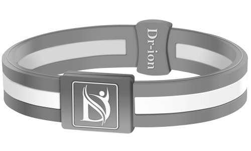 Negative Ion Health Wristband (Grey/White) Negative