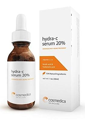 BEST VITAMIN C SERUM 20%--Vitamin C E + Ferulic Acid + Hyaluronic Acid Serum -72% Natural Extracts and Organic Ingredients- Best Anti-Aging Serum - 100% SATISFACTION GUARANTEE