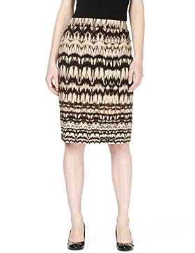Cotton Rich Ikat Print Pencil Skirt