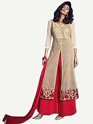 Khushi Trendz Georgette Gold Semi Stitched Salwar Suit