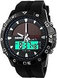 SKMEI 1064 Black Solar Energy Analog Digital Sports Watch For Men / Boys