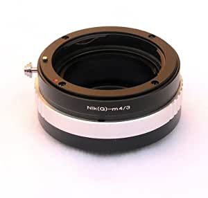 Rainbowimaging Pro Nikon G-type lens to MFT Micro 4/3 four thirds cameras adapter, with aperture control ring, for Nikon G-type lens, for OLYMPUS OM-D E-M5, E-PM1, Pen E-P3, E-P2, E-P1, E-PL3, E-PL2, E-PL1, Panasonic Lumix DMC-G1, G2, G3, G10, GH1, GH2, GH3, GF1, GF2, GF3, GF5. GX1