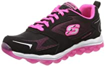 Skechers Kids Skech Air-Bizzy Bounce Athletic Sneaker (Little Kid/Big Kid),Black/Hot Pink,13 M US Little Kid