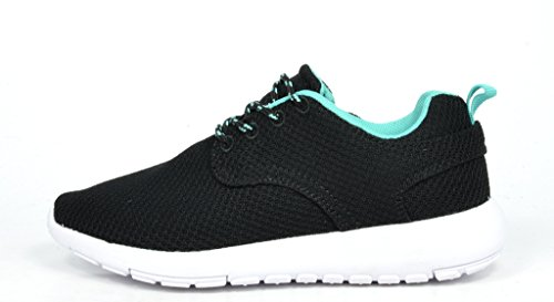 DREAM PAIRS RUNPRO Women's New Light Weight Go Easy Walking Casual Athletic Comfort Running Shoes Sneakers Black/Cyan Size 12